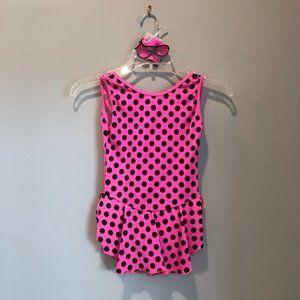 Figure Skating Pink Polka Dot Practice dress